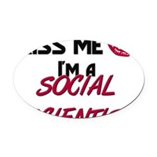 SOCIAL-SCIENTIST37 Oval Car Magnet