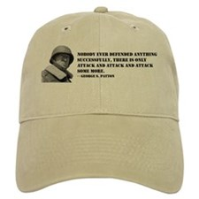 Patton Quote - Attack Baseball Cap