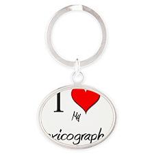 Lexicographer60 Oval Keychain