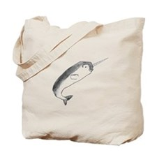 Narwhal Sketch Tote Bag