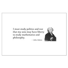 John Adams Quotes - Study War Posters