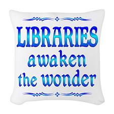 Libraries Awaken Woven Throw Pillow