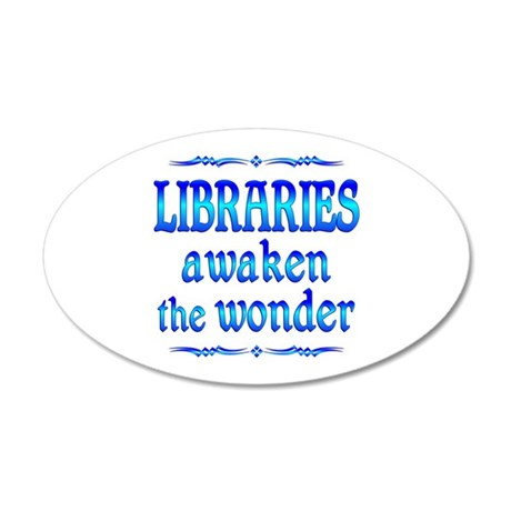 Libraries Awaken 20x12 Oval Wall Decal