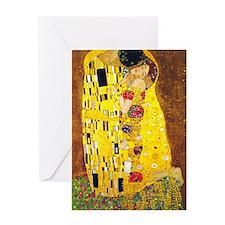 The Kiss, Klimt, Vintage Painting Greeting Card