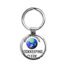 BOOKKEEPING-CLERK21 Round Keychain
