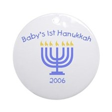 Baby's First Hanukkah Ornament (Round)