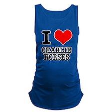 CHARLIE HORSES.png Maternity Tank Top