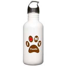 I Heart My Poodle Water Bottle