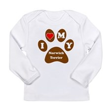 I Heart My Norwich Terrier Long Sleeve T-Shirt