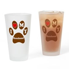 I Heart My Keeshond Drinking Glass