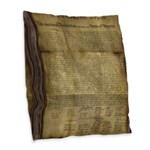 The Declaration of Independence Burlap Throw Pillo
