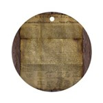 The Declaration of Independence Ornament (Round)