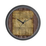 The Declaration of Independence Wall Clock