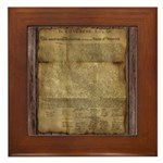 The Declaration of Independence Framed Tile