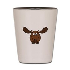 Cartoon Moose Shot Glass