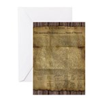 The Declaration of Independence Greeting Cards (Pk