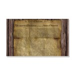 The Declaration of Independence Car Magnet 20 x 12