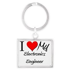 Electronics-Engineer65 Landscape Keychain