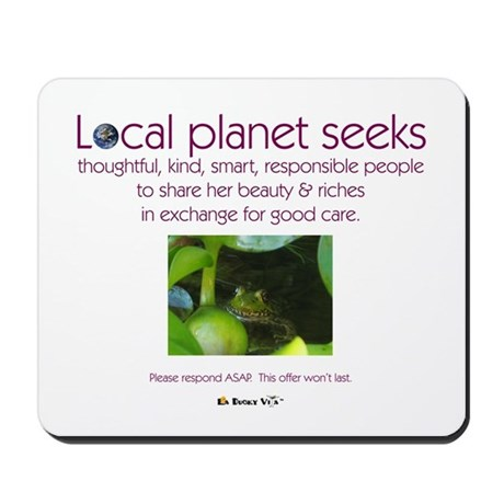 Local Planet & Frogs Mousepad