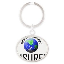 INSURER60 Oval Keychain