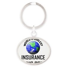 INSURANCE-PLACING-BR121 Oval Keychain