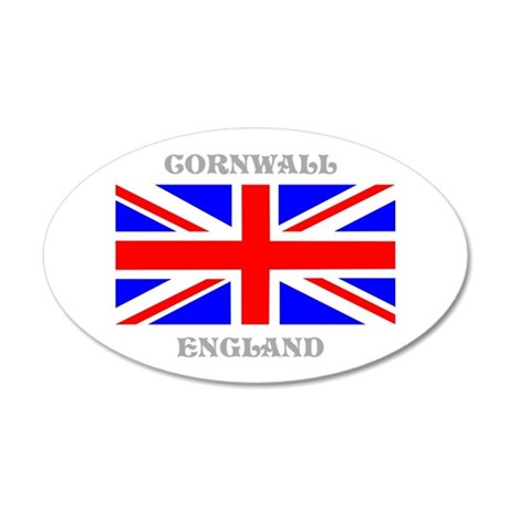 Cornwall England 20x12 Oval Wall Decal