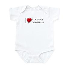 I Love (Heart) Aerospace Engi Infant Bodysuit