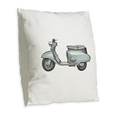 Scooter Burlap Throw Pillow