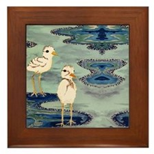 Snowy Plover Lover Framed Tile