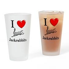 Jackrabbits128205 Drinking Glass