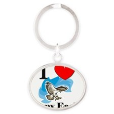Harpy-Eagles64185 Oval Keychain