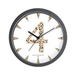 Tortoise Shell 4 Wall Clock