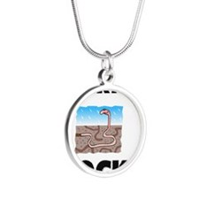 WORMS1143 Silver Round Necklace
