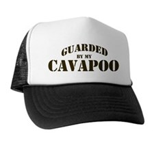 Cavapoo: Guarded by Trucker Hat