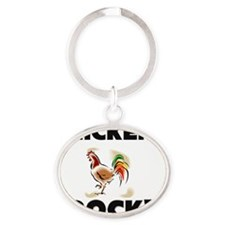 CHICKENS56337 Oval Keychain