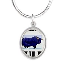 YAKS652 Silver Oval Necklace