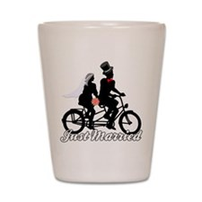 Just Married Cyclists Shot Glass