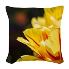Tulips in the Sun Woven Throw Pillow