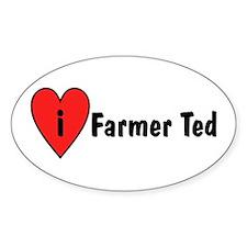 I Love Farmer Ted Decal