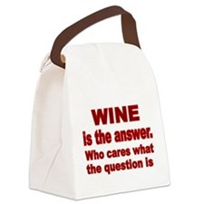 Wine is the Answer Canvas Lunch Bag