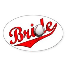 Baseball Bride Oval Decal
