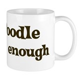 One Poodle Small Mug