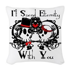 Eternity With You Woven Throw Pillow