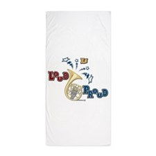 French Horn - Band Music Beach Towel