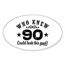 Funny 90th Birthday Decal