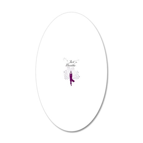 Just Breathe Wall Art 20x12 Oval Wall Decal