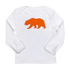 Orange California Bear Long Sleeve T-Shirt