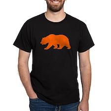 Orange California Bear T-Shirt