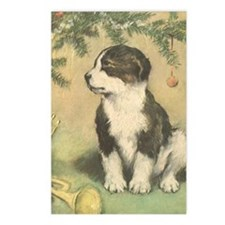 Vintage Christmas Puppy Postcards (Package of 8)