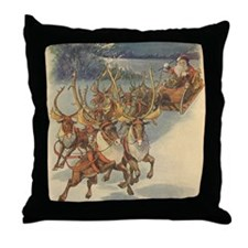 Vintage Christmas Santa Claus Throw Pillow